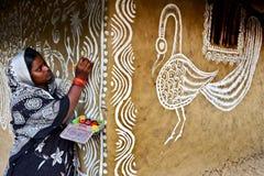 Kvinnakonstnär Arkivfoton