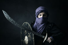 Kvinnakrigare Arkivbild