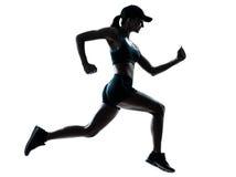 Kvinnalöparejogger fotografering för bildbyråer