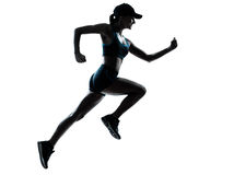 Kvinnalöparejogger arkivfoto