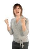 Kvinnan är mycket ilsken royaltyfri fotografi