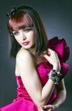 Kvinnan av mode. royaltyfria bilder