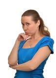 Kvinnan kränks Arkivfoto
