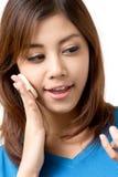 kvinnan med pinnen Arkivfoto