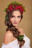 kvinnan med pinnen Royaltyfria Bilder