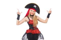 Kvinnan piratkopierar Arkivfoto