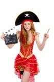 Kvinnan piratkopierar Royaltyfri Fotografi