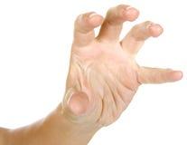 Kvinnan visar ett tecken med händer Arkivfoton