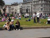 Kvinnarösträtt på 100 i London Fotografering för Bildbyråer