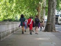 Kvinnarösträtt på 100 i London Arkivfoton