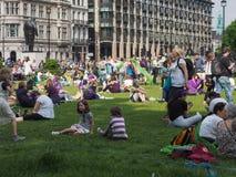Kvinnarösträtt på 100 i London Royaltyfria Foton