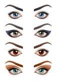Kvinnas ögon med smink Royaltyfria Bilder