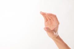 Kvinnas hand som, om rymma kreditkorten Arkivfoto