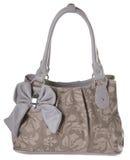 Kvinnas handväska på en bakgrund Arkivfoton