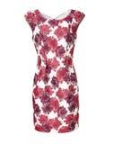 Kvinnas klänning som isoleras på vit Fotografering för Bildbyråer