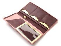 Kvinnas läderplånbok Royaltyfria Bilder