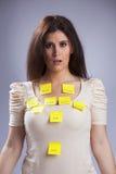 Kvinnas livproblem royaltyfri foto