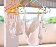 Kvinnas vita underkläder Fotografering för Bildbyråer