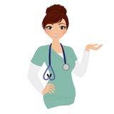 Kvinnasjuksköterska royaltyfri illustrationer