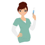 Kvinnasjuksköterska vektor illustrationer