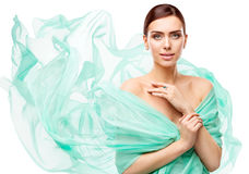 Kvinnaskönhetmakeup, modemodell Face Make Up, härlig flicka Arkivfoto