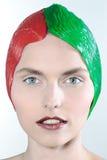 Kvinnaskönhetstående arkivfoto