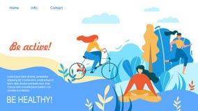 Kvinnasporten som utomhus utbildar, är aktivt sunt stock illustrationer