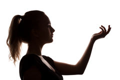 Kvinnaståenden profilerar Arkivfoto