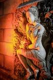 Kvinnastaty med thailändsk stil Arkivfoto