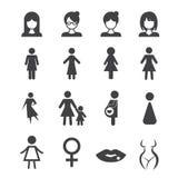 Kvinnasymbol vektor illustrationer