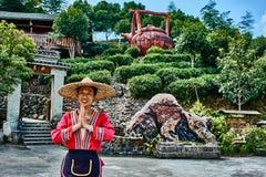 Kvinnatehus Guilin Yangshuo Guangxi Kina royaltyfri foto