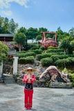 Kvinnatehus Guilin Yangshuo Guangxi Kina arkivbild