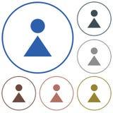 Kvinnatoalettsymbol Fotografering för Bildbyråer