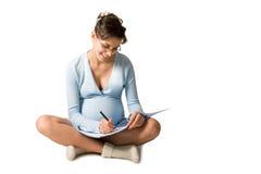 kvinnawriting arkivfoton