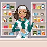 Kvinnlig apotekare Vector Illustration Arkivfoto