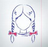 Kvinnlig avatar Arkivfoto