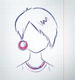 Kvinnlig avatar Royaltyfri Foto