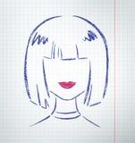 Kvinnlig avatar Fotografering för Bildbyråer