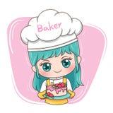 Kvinnlig Baker_2 royaltyfri illustrationer