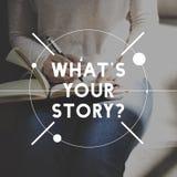 Kvinnlig berättelseförfattare Sketch Graphic Concept Arkivbild