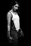 Kvinnlig boxare Fotografering för Bildbyråer
