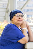 Kvinnlig bröstcancerpatient Arkivfoto