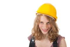 Kvinnlig byggmästare Fotografering för Bildbyråer