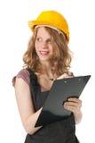 Kvinnlig byggmästare Arkivfoton