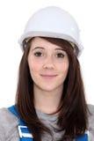 Kvinnlig byggnadsarbetare Royaltyfri Fotografi