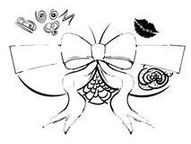 Kvinnlig byst med gåvapilbågen royaltyfri illustrationer