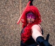Kvinnlig cosplayer på den Yorkshire Cosplay regeln Royaltyfri Foto