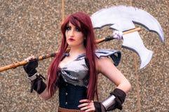 Kvinnlig cosplayer på den Yorkshire Cosplay regeln Royaltyfri Fotografi