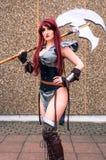 Kvinnlig cosplayer på den Yorkshire Cosplay regeln Royaltyfria Bilder
