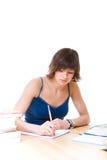 kvinnlig deltagare arkivfoto